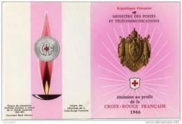 Carnet Croix Rouge De 1966avec Obl. 1er Jour - Red Cross
