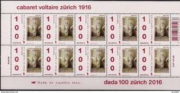 """2016 Schweiz Mi. 2431-2** MNH     100 Jahre Avantgarde-Bewegung """"Dada"""" - Blocks & Kleinbögen"""