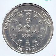 BOUDEWIJN * 5 ECU 1987 * Prachtig * Nr 9701 - 12. Ecus