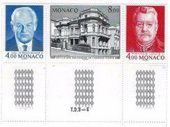 """Monaco YT 1564A Triptyque """" 50 Ans De O.E.T.P.  """" 1987 Neuf** BDF - Nuovi"""