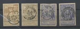 Expo De 1897   Jolies Oblitérations Sur 71 Et 72 - Belgique