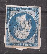 Empire N° 14  Obl Pc 690 De CHABEUIL , Drôme, Indice 7 , Belle Frappe   , TB - 1853-1860 Napoleone III