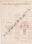 MILITARIA - FUSEE - DETONATEUR - 1937 - 1939 - ORIGINAL  - - Planches & Plans Techniques