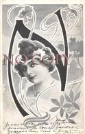 CPA Fantaisie - Portrait D' Artiste - Jolie Jeune Femme Pretty Young Lady - Théâtre Actrice Art Nouveau - Artistes