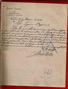 Courrier Espagne Amos Iribas Procurador Y Agente De Negocios Tafalla 12-03?-1898 - écrit En Espagnol - Espagne