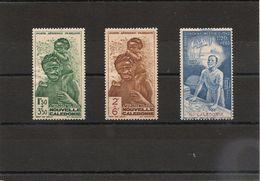 NOUVELLE CALEDONIE.  Année 1942 P.A. N°Y/T 36/38* - Poste Aérienne