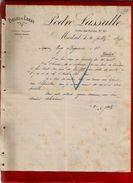 Courrier Espagne Pieles Y Lanas Pedro Lassalle Calle Del Penon Madrid 20-07-1897 - écrit En Français - Espagne