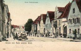 CPA- SOULTZ-sous-FORÊTS (67) - Aspect De La Fabrique De Bas à L'entrée De La Rue Kaiser Friedrich Au Début Du Siècle - Autres Communes
