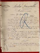 Courrier Espagne Pieles Y Lanas Pedro Lassalle Calle Del Penon Madrid 9-07-1897 - écrit En Français - Espagne