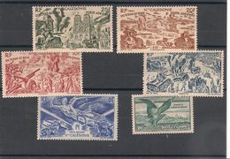 NOUVELLE CALEDONIE.  Années 1944/46 P.A. N°Y/T 53/56*-58/59* - Poste Aérienne