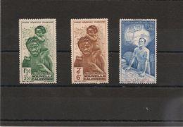 NOUVELLE CALEDONIE.  Année 1942 P.A. N°Y/T: 36/38* - Poste Aérienne