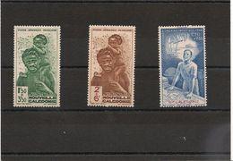NOUVELLE CALEDONIE.  Année 1942 P.A. N°Y/T: 36*-37/38** - Poste Aérienne