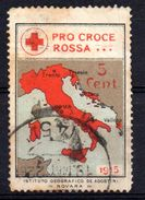 Viñeta Pro Croce Rossa  Italia 1915 - 1900-44 Victor Emmanuel III