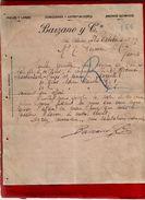 Courrier Espagne Lanas Y Pieles Barzano San Sebastian 28-10-1899 - écrit En Français - Espagne