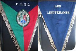 LÉGION ÉTRANGÈRE - FANION DES LIEUTENANTS DU 1°REC - ANNÉES 70 - Army