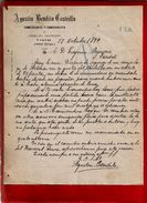 Courrier Espagne Agustin Bendito Castrillo Commerce Céréale Légumes Y Lanas Haro Rioja 17-10-1899 - écrit En Espagnol - Espagne