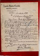Courrier Espagne Agustin Bendito Castrillo Commerce Céréale Légumes Y Lanas Haro Rioja 19-10-1899 - écrit En Espagnol - Espagne