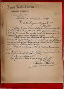 Courrier Espagne Agustin Bendito Castrillo Commerce Céréale Légumes Y Lanas Haro Rioja 6-12-1899 - écrit En Espagnol - Espagne