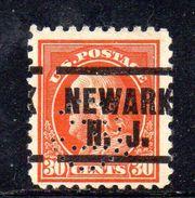 XP3358 - STATI  UNITI  PERFIN PERFINS ,  30 Cents. Usato . - Etats-Unis