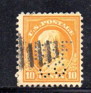 XP3361 - STATI  UNITI  PERFIN PERFINS ,  10 Cents. Usato . - Etats-Unis