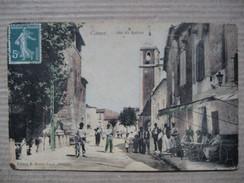 HERAULT 34   CANET  -   JEU DE BALLON   -    TERRASSE DU CAFE      TRES  ANIME    TTB - Francia