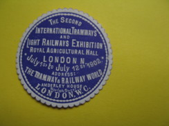 Vignette The Second International Tramways And Light Railways Exhibition Royal Agricultural Hall London  1902 - Erinnophilie