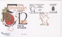 65738- CONQUEST OF NAVARRE ANNIVERSARY, COVER FDC, 2012, SPAIN - FDC