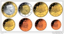Latvia / Lettonia / Lettland  2014 EURO COIN LATVIA FULL EURO SET 2014 8 COINS UNC - Lettonie
