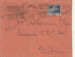 65845- KING MICHAEL, STAMP ON COVER, 1947, ROMANIA - 1918-1948 Ferdinand I., Charles II & Michel