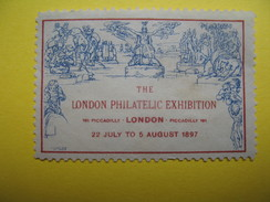 Vignette The London Philatelic Exhibition 191 Paccadelly London 1897 - Cinderellas