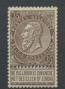 35 C  Fine Barbe **   Leopold II De Belgique  Très Frais  Cote 115 E - 1893-1900 Schmaler Bart