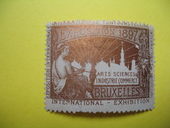 Vignette Internationale Tentoonstelling Exposition 1897 Arts Sciences Industrie (Commerce) Bruxelles - Erinnophilie