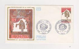 Enveloppe 1er Jour /  300 Aire De La Mort De Molière / Paris / 20-10-73 - FDC