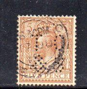 XP3363 - GRAN BRETAGNA  PERFIN PERFINS , 6 Pence Usato . - 1902-1951 (Re)