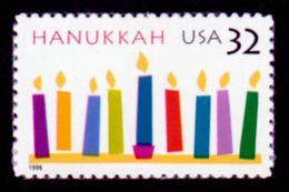 USA 1996, Scott 3082, Hanukkah Candlesl, MNH, VF - Stati Uniti