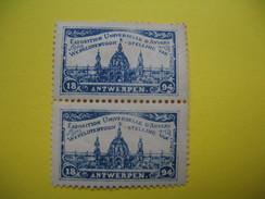 Vignette  Exposition Universelles D'Anvers Wereldtentoon - Stelling Van  1894 - Erinnophilie
