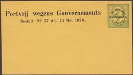 Inde Néerlandaise (Indonésie) 1878. Enveloppe De Franchise Pour Les Participants Du Congrès D'agriculture De Soerabaya - Agriculture