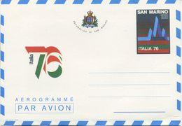 SAN MARINO - AEROGRAMMA 1976 - ESPOSIZIONE INTERNAZIONALE - NUOVA - Interi Postali