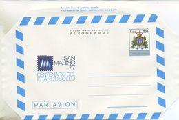 SAN MARINO - AEROGRAMMA 1977 - CENTENARIO DEL FRANCOBOLLO - NUOVO - Interi Postali