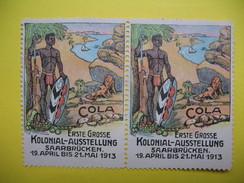 Vignette  Erste Grosse Kolonial- Ausstellung Saarbrücken 1913 - Erinnophilie