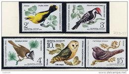 SOVIET UNION 1979 Woodland Birds Set Of 5 MNH / **.  Michel 4883-87 - 1923-1991 USSR