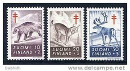 FINLAND 1957 Tuberculosis Fund Set MNH / **.  Michel 478-80 - Ungebraucht