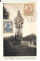CPA..  BUDAPEST.......MARGITSZIGETI VIZTORONI  1923......TBE  ..SCAN..TIMBRES N°315/316. - Ungheria