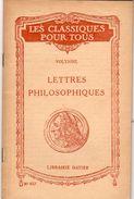 Les Classiques Pour Tous - VOLTAIRE - Lettres Philosophiques - Lib. HATIER - Livres, BD, Revues