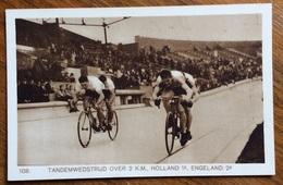 GIOCHI DELLA IX OLIMPIADE OLANDA AMSTERDAM CICLISMO TANDEMWEDSTRIJD OVER K.M. HOLLAND I - ENGELAND 2 - Summer 1928: Amsterdam