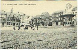 Braine-le-Comte. Grand'Place Et Kiosque. Collection Bertels. - Braine-le-Comte