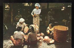 B3659 UNION OF BURMA - MARKET SCENE IN BURMESE VILLAGE - Myanmar (Burma)
