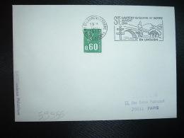 L. TP M. DE BEQUET 0,60 ROULETTE OBL.MEC.11-12-1975 ST LAURENT S/GORRE (87 HAUTE VIENNE) - Storia Postale