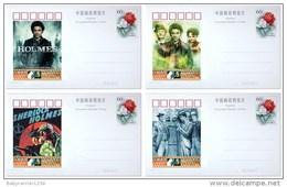 Sherlock Holmes Postage Stationery Postage Payed Card 16 Diff - Umweltschutz Und Klima