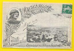 Rare ALGER 1912 Souvenir De L'Aviation Pilote Daucourt En Médaillon (Hirondelle) Algérie - Alger